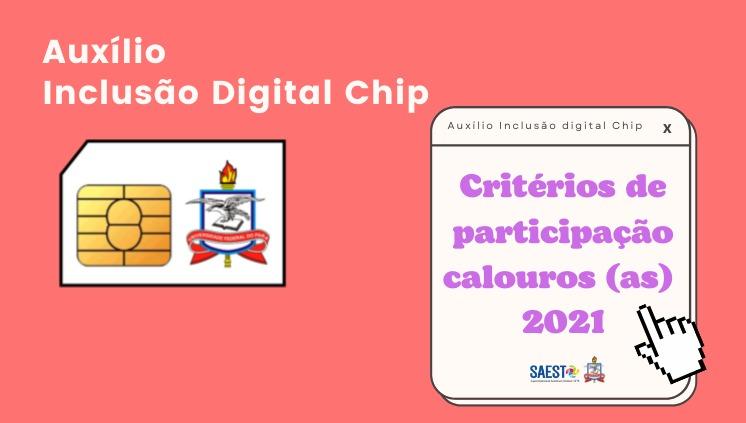 SAEST/UFPA publica Instrução Normativa com critérios para a concessão de chip do Auxílio Inclusão Digital para calouros (as) 2021